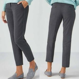 Pure Collection Charcoal Marl Wool Blend Trousers